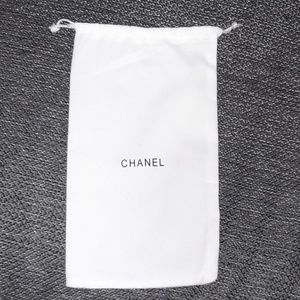 Chanel White Dust Bag 9.5 by 5.5 inches